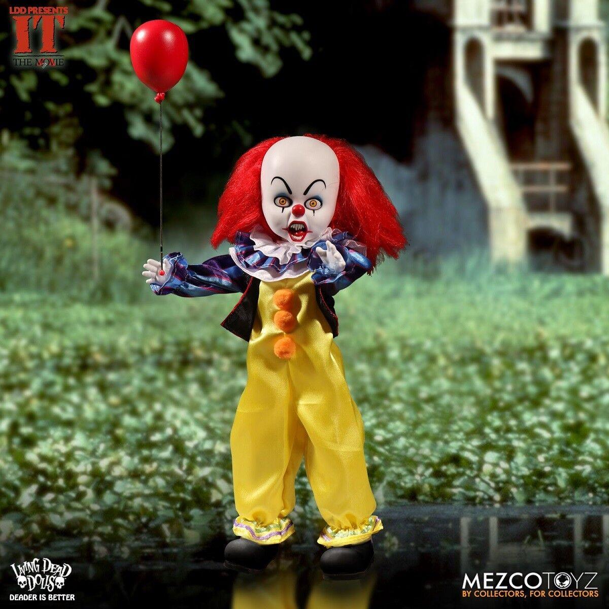 Mezco Toyz Living Dead Dolls presenta 1990 Pennywise 10 in (approx. 25.40 cm) Muñeca