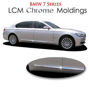 1279df7174f 4PC ABS LCM CHROME BODY SIDE MOLDINGS FITS 2010-2018 BMW7LI SERIES ...