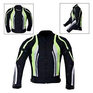 New-Men-039-s-Motorcycle-Motorbike-Jacket-Waterproof-Textile-With-CE-Armoured-Hiviz
