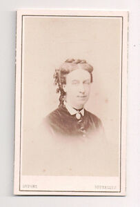 Vintage-CDV-Unidentified-Member-of-Queen-Victoria-039-s-Court-Dupont-Photo-Brussles