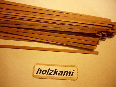 Holzleisten Buche 50 Stück 800mm x 6mm x 0.6mm  L//B//H  Neu