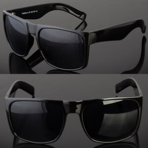 9fa4f3280f Retro Square Frame Sunglasses Mens Womens Large Flat Top Square Dark ...