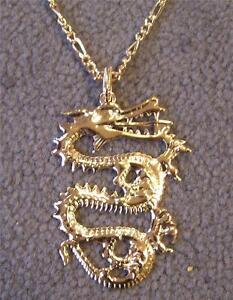Jumbo gold dragon pendant chain necklace new mens women fantasy image is loading jumbo gold dragon pendant chain necklace new mens aloadofball Choice Image