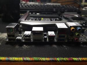 I//O SHIELD back plate BLENDE BRACKET for ASUS RAMPAGE II GENE MAXIMUS II GENE R2