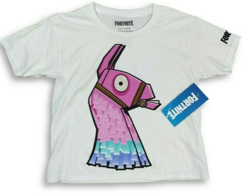 Fortnite Loot Llama White T-Shirt For Boys Size LARGE 10//12
