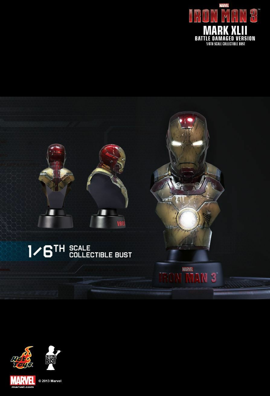 Hot ToysIron Man Man Man 3 Collectible Bust Series 1 1/6th scale Set of 8 6e6192