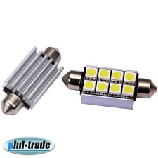 LED Soffitte Lampe C10W Canbus 42mm 12V 8x SMD Innen Beleuchtung o. Nach Glimmen