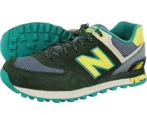 New balance 574 Mujer Verde oscuro Limón Correr Tenis 5 ...