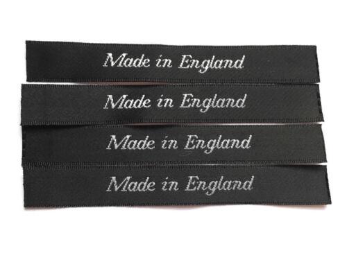 MADE in Inghilterra sew-in tessuti abbigliamento indumento etichetta Cut /& sigillato SATIN etichetta