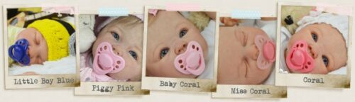 Honeybug MAGNETIC PACIFIER reborn art doll Sweetheart newborn handle PIGGY PINK