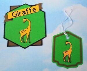 * Vente * Carte Topper Et Correspondants Gift Tag, Handmade, Anniversaire, Girafe, Animal-afficher Le Titre D'origine Excellent Effet De Coussin