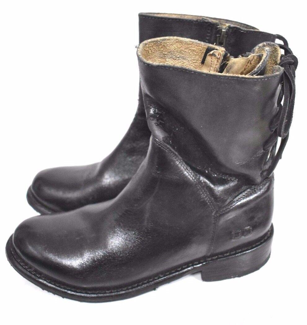 Cama Stu Stu Stu Mujer Cheshire Negro Vidriado Detalle Encaje Tobillo botas de Piel 7.5  saludable