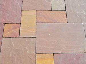 Naturstein Gartenplatten Terrassenplatten Sandstein Indien