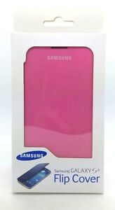 Genuine-Samsung-Flip-Open-Book-Case-Cover-For-Samsung-Galaxy-S4-Pink-New