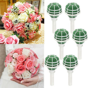 6pcs Wedding Oasis Belle Bouquet Holder Bridal Bride Flower Posy Foam Holder Ebay