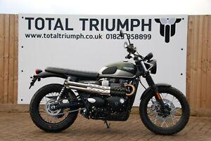 Total Triumph Street Scrambler 900 Short Slip On Silencer (007 Guy Martin Style)