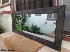 large wood mirror navy blue/full length mirror/floor mirror/reclaimed wood
