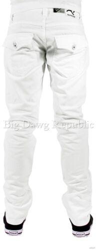 Rock Star Coligham Whte Club Wear Is Time Money Peviani Men/'s Designer Jeans