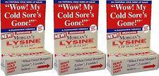 Morgan's Lysine Lip Balm for Cold Sores, 4gm, ( 3 Pack )
