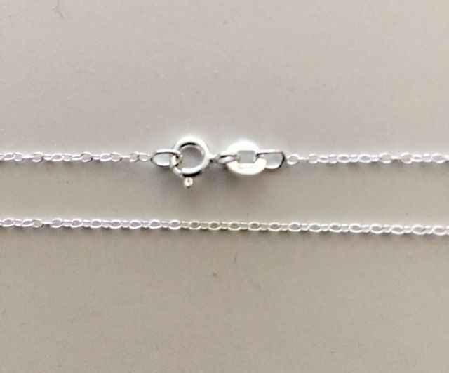 """Sterling Silver Cable Chain 50cm 20"""" 2mm Diameter Genuine Solid 925 Necklace"""