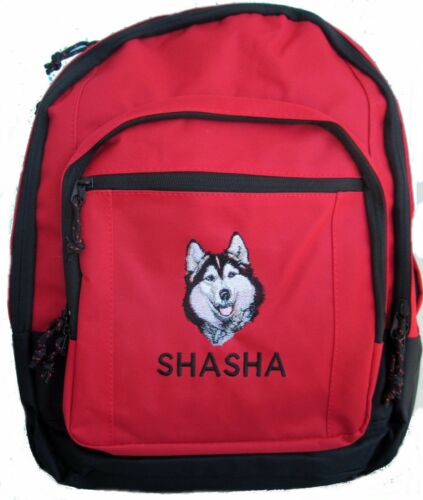Personalized Siberian Husky Backpack book bag NEW monogrammed school tote diaper