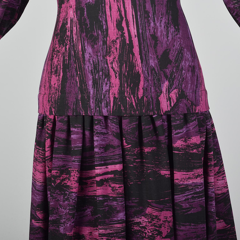Medium Pauline Trigere 1980s Drop Waist Dress Vin… - image 8