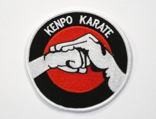 """Kenpo Karate /""""Salute/"""" 4 Inch Round Patch Iron On Sew On New"""