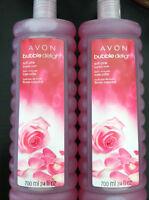 Lot Of 5 Avon Soft Pink Bubble Bath 24 Fl.oz Packaging
