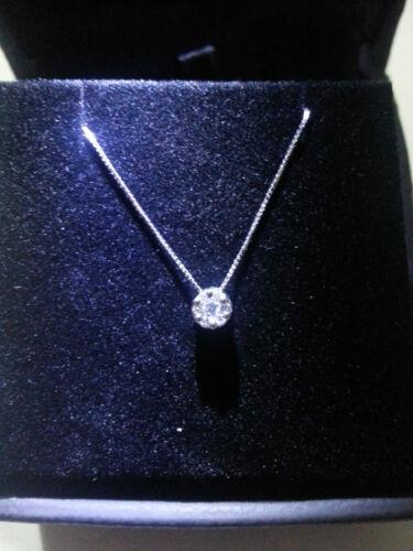 magic 0,50 ct diamanti NATURALI collana oro bianco con ciondolo punto luce mod