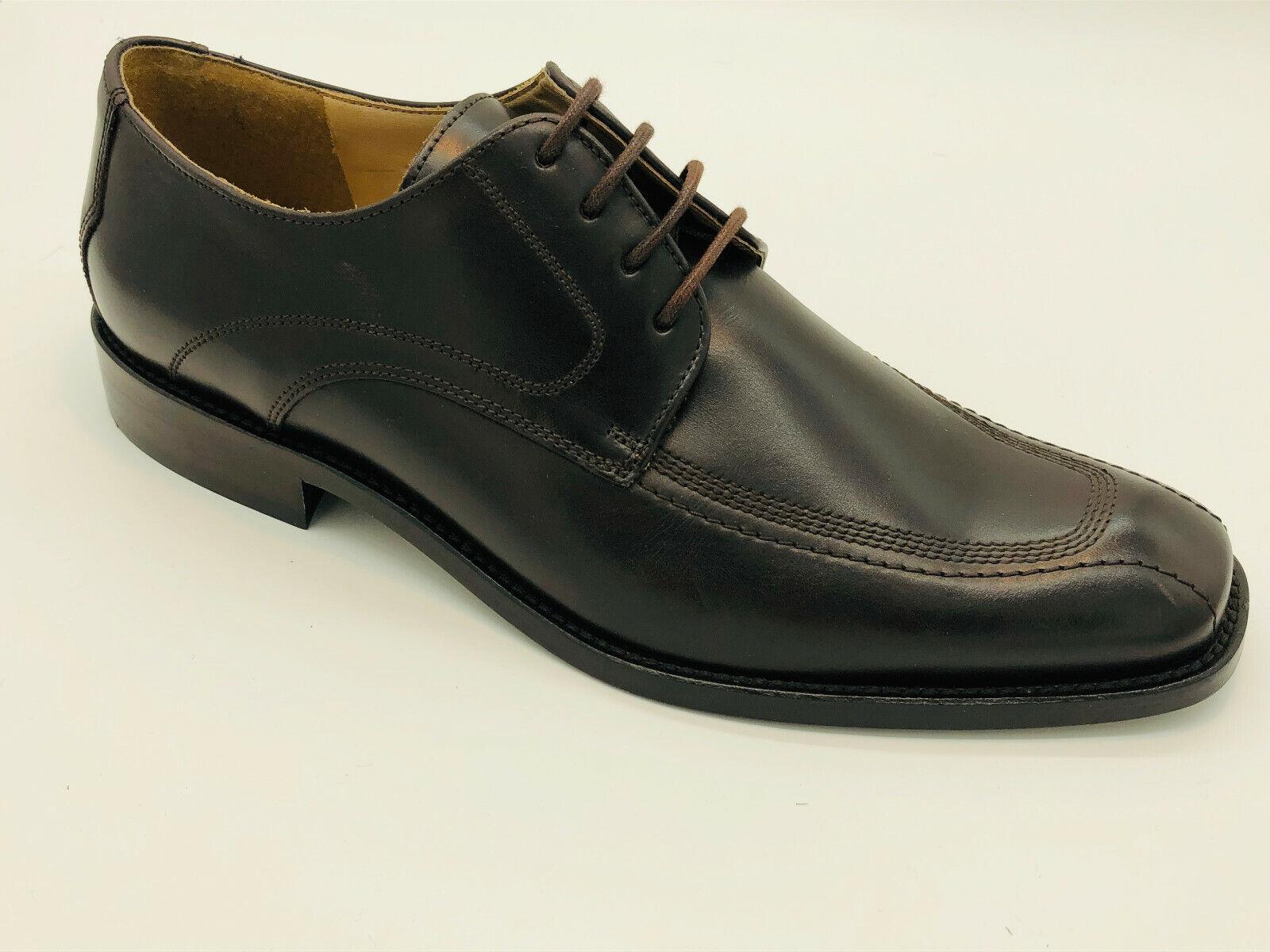 Lord Excelent Leder Schuhe Gr 44,5 (UK 10) Dunkelbraun Ledersohle MASINDI