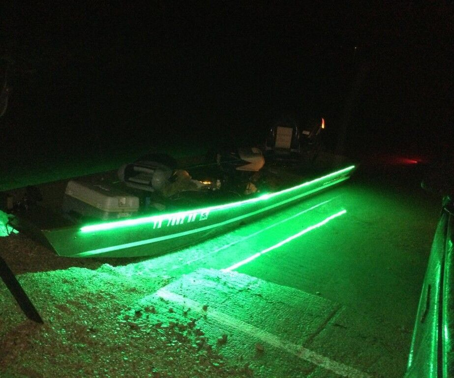 Boat accent light waterproof led lighting strip rv smd for Green monster fishing light