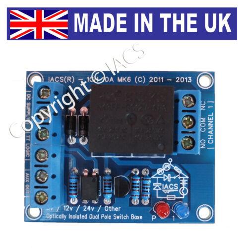 IACS 1 Channel 10A Relay Board 10 Amp SPDT Arduino Raspberry Pi 1CH10AS Optical