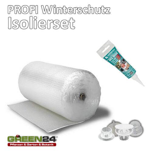 Isolierung komplett Set 15m² Frostschutz für Gewächshaus inkl. Halter + Kleber