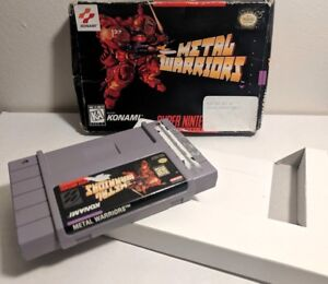 Metal-Warriors-Super-Nintendo-SNES-Game-Cart-Box-Rare-Authentic