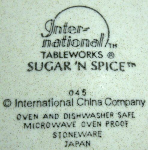"""INTERNATIONAL china SUGAR /'N SPICE 045 pattern Coupe Cereal Bowl @ 6-7//8/"""""""
