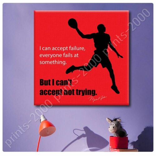 Michael Jordan #3 Basketball Quote by Alonline DSNPoster or Wall Sticker