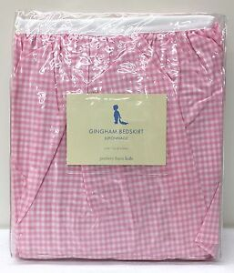 Image Is Loading New Pottery Barn Kids Gingham Crib Skirt Nursery