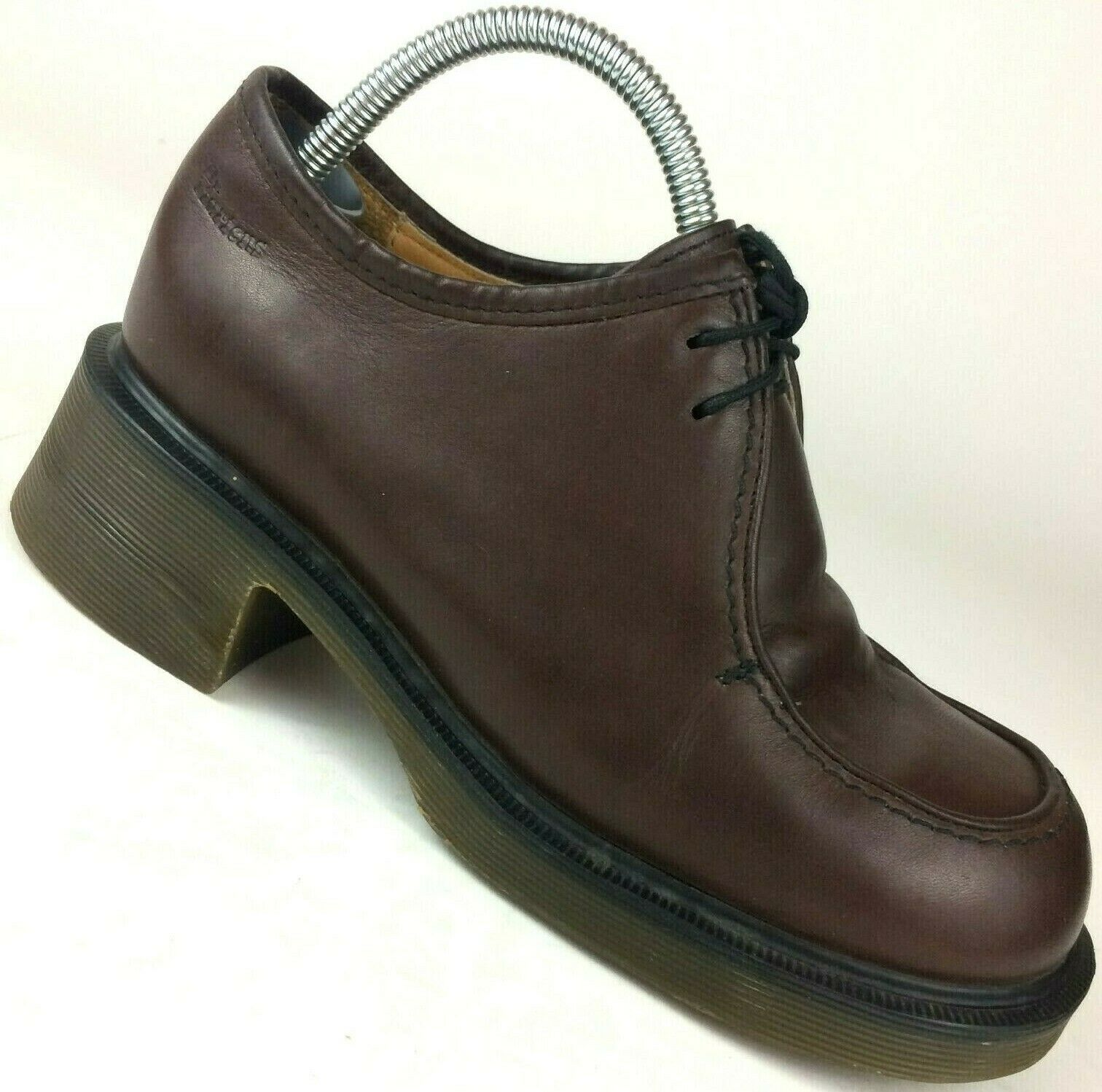 Dr Martens Brown Leather Oxford Chunky Heel shoes Boots 8669 US Womens 6