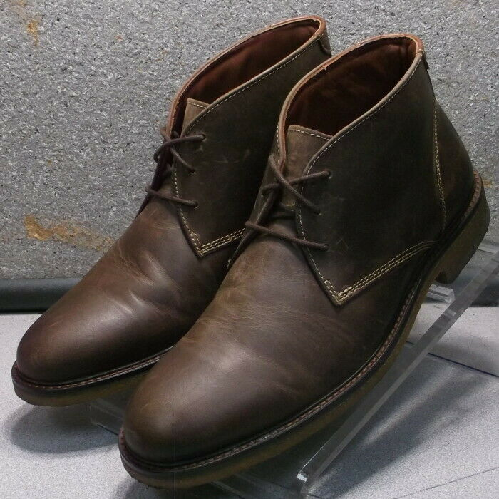 251870 WTBT40 Men's Size 9.5 M Brown Leather Boots Johnston Murphy Walk Test