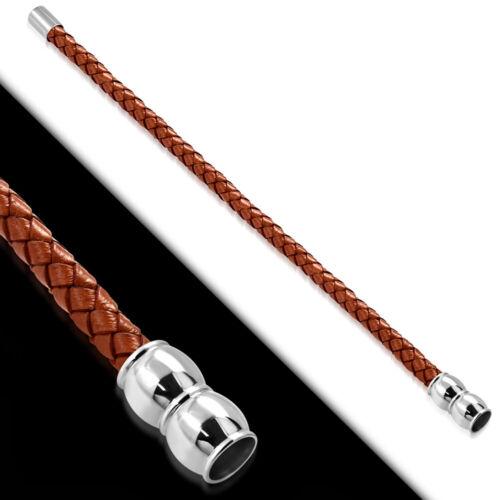 22 cm Bracelet En Cuir Avec Acier Inoxydable MAG Fermeture Unisexe Bracelet z-bgo222