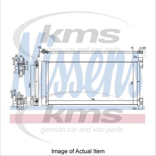 Nuevo Genuino Nissens Condensador de aire acondicionado 940596 Calidad Superior
