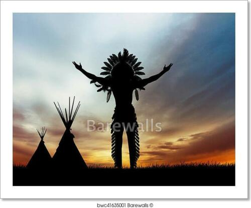 Native American Indian Art Print Home Decor Wall Art Poster D