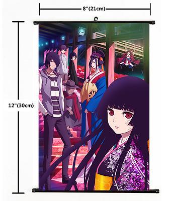 Japanese Anime Jigoku Shoujo Hell Girl  Wall Poster Scroll 1719