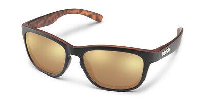 Suncloud Cinco Polarized Sunglasses Black Havana BP /&Sienna Mirror New Authentic