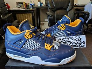 ad708d722c1e Nike Air Jordan Retro IV 4 Dunk From Above Midnight Navy Gold White ...