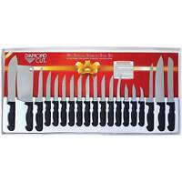 19 Piece Field Butcher Dressing Big Game Deer Processing Hunting Kit Knife Set