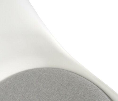 helle Beine weiß//grau Stoff B-Ware 2x Esszimmerstuhl MCW-E53