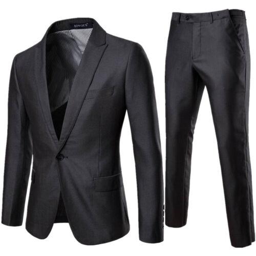 2019 Men's Suit Slim 3-Piece Suit Blazer Business Wedding Party Jacket Vest/&Pant