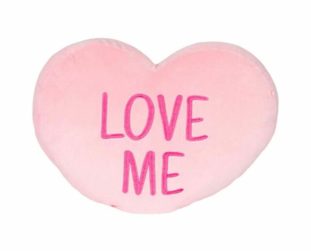 Kellytoy Squishmallow Valentine Candy Heart Messages Pillows (12 Inches, PINK)