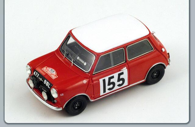 Spark s1190 morris mini-cooper no 155 monte carlo 1963 morrison-culchet 1 43